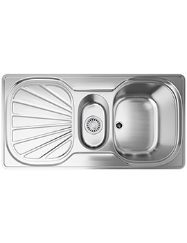 Erica EUX 651 Stainless Steel 1.5 Bowl Kitchen Inset Sink
