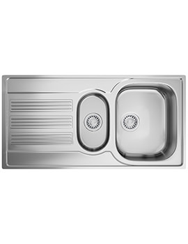 Galileo GOX 651 Stainless Steel 1.5 Bowl Kitchen Inset Sink