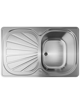 Erica EUX 611 78 Stainless Steel 1.0 Bowl Kitchen Inset Sink