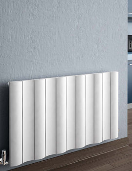 Reina Gio Horizontal Double Panel Aluminium Radiator 1040 x 600mm