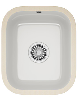 V And B VBK 110 33 Ceramic 1.0 Bowl White Undermount Kitchen Sink