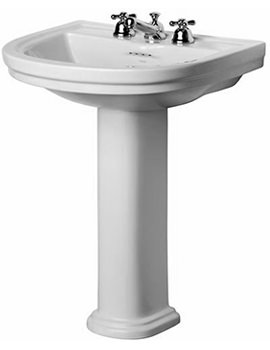 Sottini Reprise 600mm 3 Tap Hole Basin And Full Pedestal