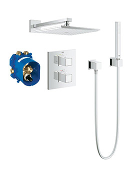 Grohtherm Cube Thermostatic Concealed Shower Bundle - 34506000