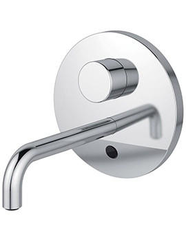 Sensorflow Wave 230mm Spout Basin Tap With Set Temperature - Battery