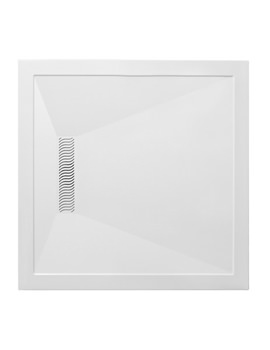 900mm Square Shower Tray With Linear Waste - LN000S900