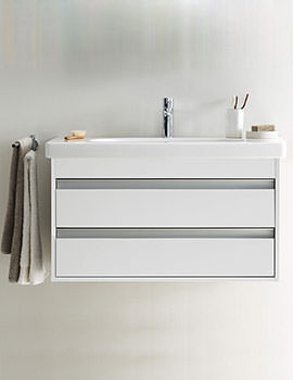 Duravit Ketho 1000mm 2 Drawers Unit With D-Code 1050mm Basin