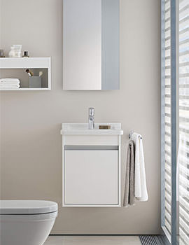 Ketho 1 Door 440mm Unit With 480mm Starck 3 Basin