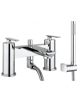 Crosswater Silk Bath Shower Mixer Tap With Kit - SI422DC