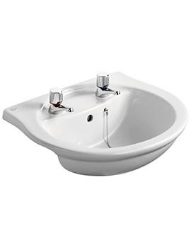 Alto 550mm 2 Taphole Semi-Countertop Washbasin