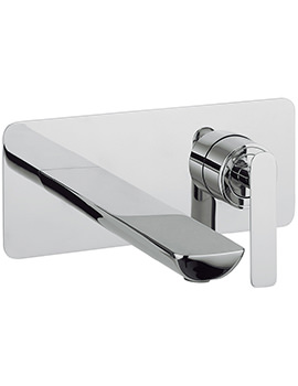 Silk Wall Mounted 2 Hole Basin Mixer Tap Set -SI121WNC