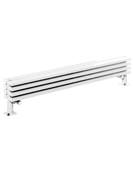 Bassano 255mm Height Low Level Floor Standing Radiator White