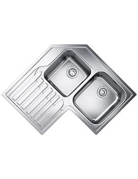 Studio STX 621-E Stainless Steel Corner Inset Sink