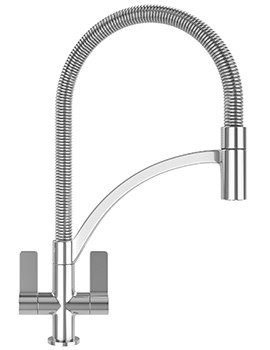 Wave Pull-Out Nozzle Kitchen Sink Mixer Tap Chrome