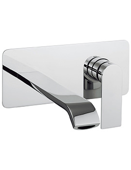 Dune Wall Mounted 2 Hole Basin Mixer Tap Set -DN121WNC