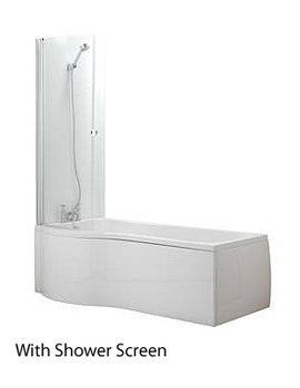 Trojan Concept P Shaped Shower Bath 1675 x 850 - 750mm