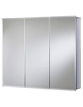 Croydex Kennet Triple Door Tri-View Aluminium Cabinet - WC101969