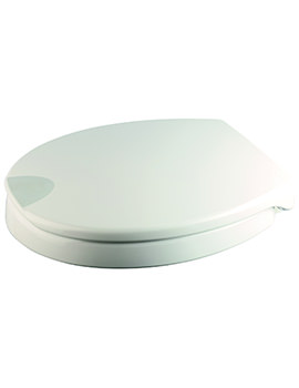 Raised White Urea Toilet Seat - WL400522H
