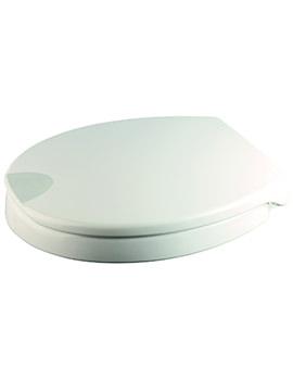 Raised White Urea Toilet Seat - WL400522H
