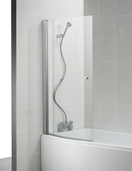 Create 870 - 890 x 1500mm Curved Shower Bath Screen