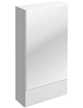 Twyford E100 Square White Mirror Cabinet 464 x 850mm - E10072WH