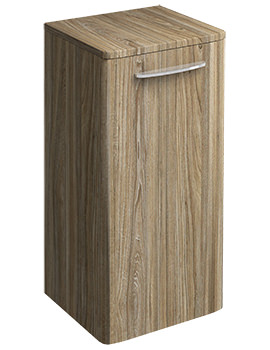 Twyford E100 Square 330 x 655mm Grey Ash Wood Small Side Furniture Unit