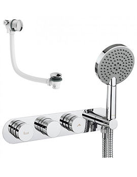 Dial Bath Valve With Central Trim - Shower Handset And Filler