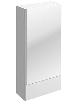 Twyford E100 Square White Mirror Cabinet 418 x 850mm - E10071WH