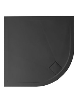 Plus Ton Quadrant 30mm Matt Black Shower Tray 900mm