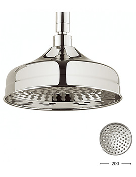 Belgravia Nickel Fixed Shower Head 200mm - FH08N