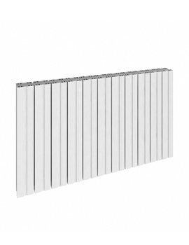 Reina Bova Horizontal Single Aluminium Radiator 850 x 600mm