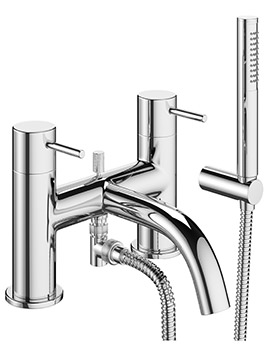 Mike Pro Chrome Bath Shower Mixer Tap With Kit