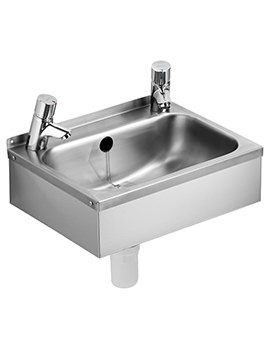 Related Armitage Shanks Denholm 2 Stainless Steel 460mm Wall Hung Basin
