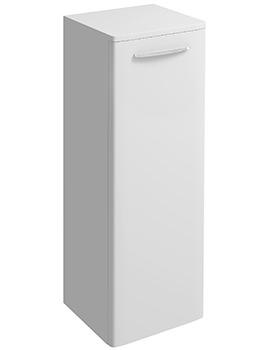 E100 Square 330 x 865mm Large Side Furniture Unit White Gloss