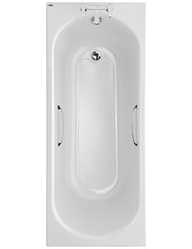 Opal Acrylic 2 TH 1700 x 700mm 179 Litres Bath With Tread And Grips