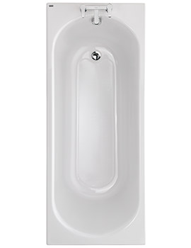 Opal Acrylic 2 Tap Hole 1700 x 700mm 179 Litres Bath With Tread