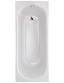 Opal Acrylic No Tap Hole 1500 x 700mm Bath With Tread