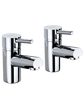 X60 Pair Of Bath Pillar Taps - X605215CP