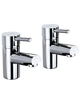 X60 Pair Of Bath Pillar Taps - X605215CP