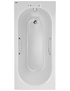 Opal Acrylic 2 Tap Hole 1500 x 700mm Bath With Tread And Grips