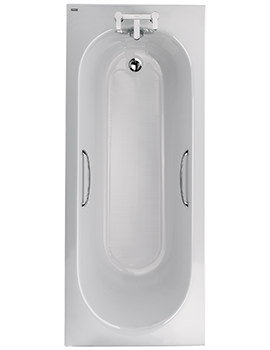 Opal Acrylic 2 TH 1700 x 700mm 130 Litres Bath With Tread And Grips