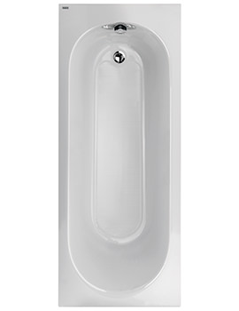 Opal Acrylic No Tap Hole 1700 x 700mm 130 Litres Bath With Tread