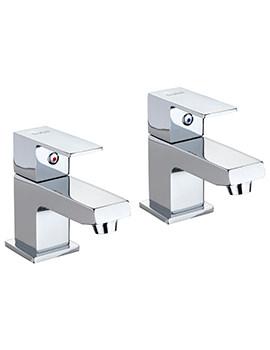 Twyford X62 Pair Of Bath Pillar Taps - X625215CP