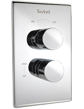 Twyford X120 Dual Control Recessed Thermostatic Shower Valve