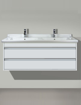 Ketho 1200mm 2 Drawers Unit With Starck 3 Double Basin