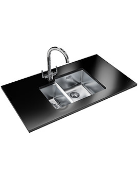 Kubus Designer Pack KBX 160 34-16 Stainless Steel Sink And Tap