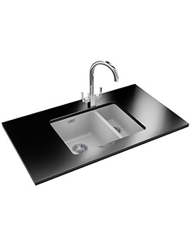 Kubus Designer Pack KBG 160 Fragranite Polar White Sink And Tap