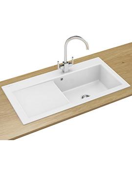 Mythos Designer Pack MTK 611 Ceramic Kitchen Sink And Tap