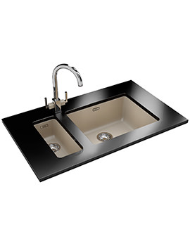 Kubus DP KBG 110 16 + KBG 110 50 Fragranite Coffee Sink And Tap