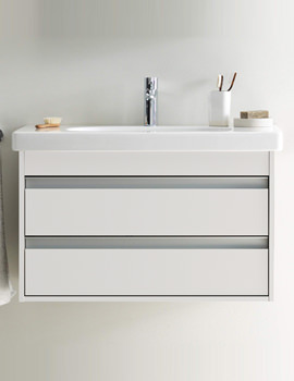 Duravit Ketho 800mm Double Drawers Unit With Vero 850mm Basin