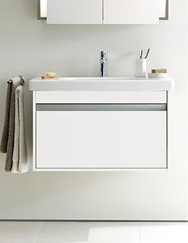Duravit Ketho 800mm Single Drawer Unit With Vero 850mm Basin